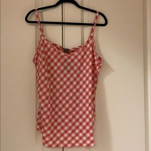 Gingham red tank